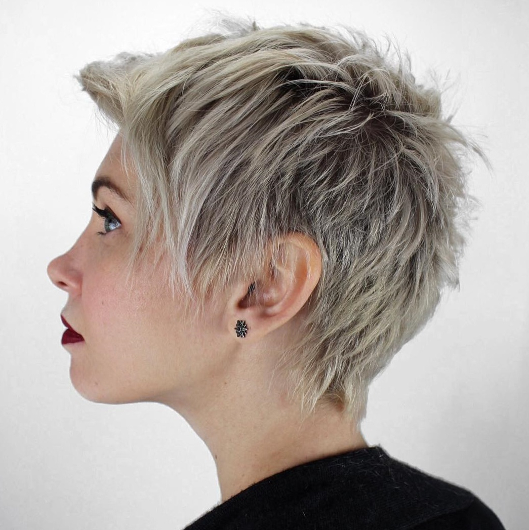 Popular Dark Pixie Haircuts With Blonde Highlights Inside 45 Short Hairstyles For Fine Hair To Rock In (View 17 of 20)