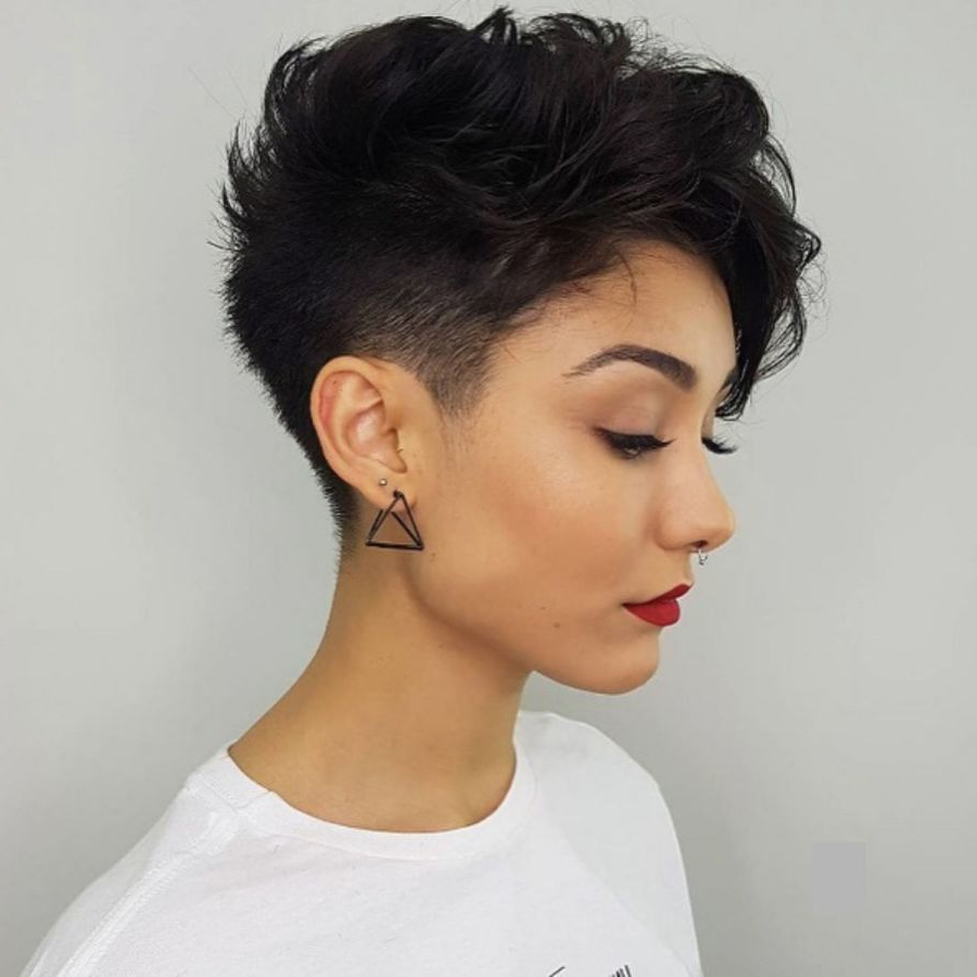 Popular Edgy & Chic Short Curls Pixie Haircuts Pertaining To Pin On Hair (View 2 of 20)
