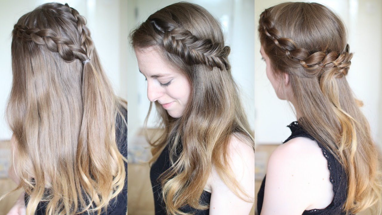 Popular Half Braided Hairstyles In 3 Pretty Half Down Braided Hairstyles (View 3 of 20)