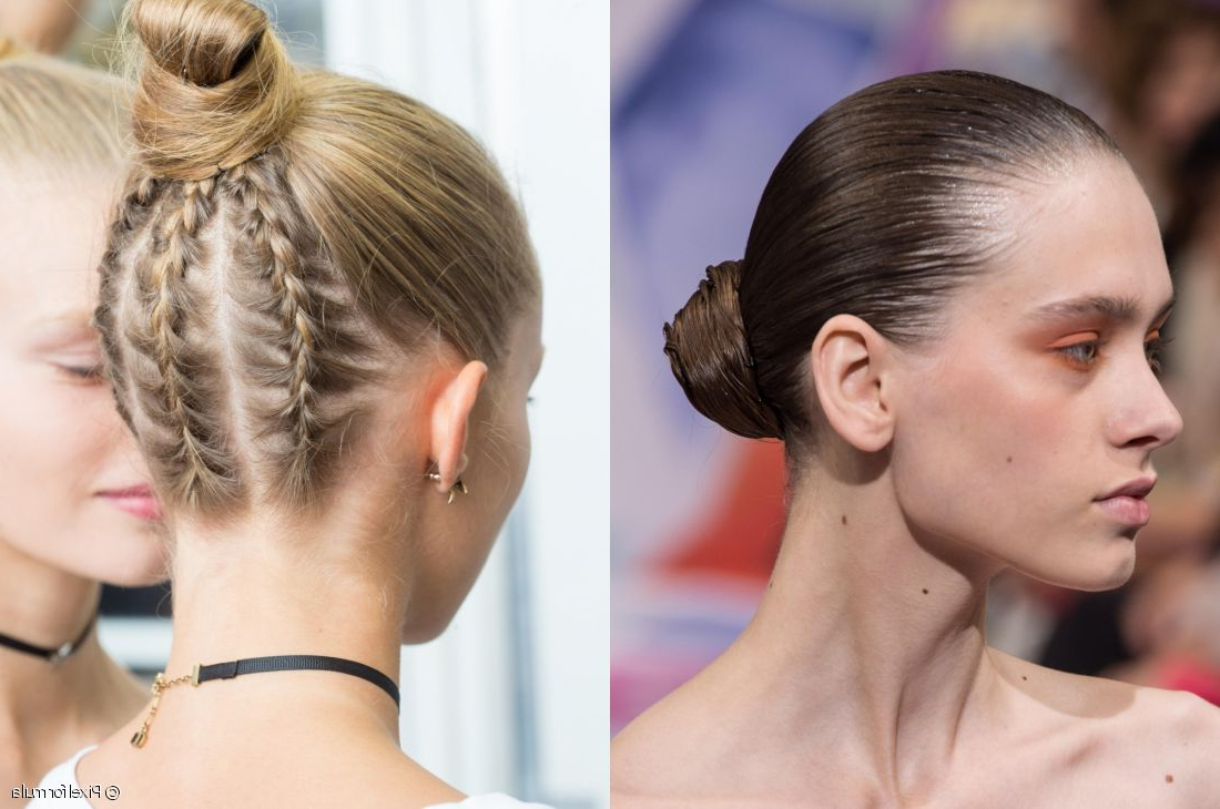 Popular Modern Braided Top Knot Hairstyles Throughout Ballerina Buns: Classic Bun Vs (View 12 of 20)