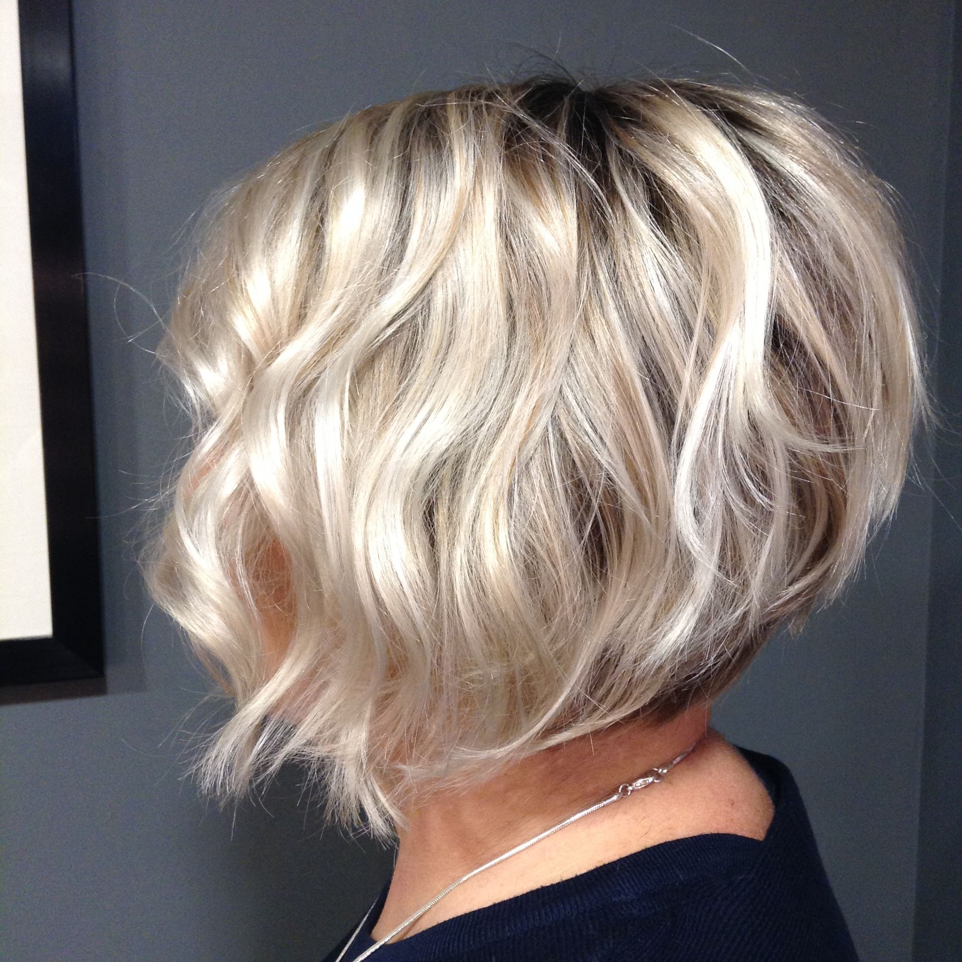 Popular Sassy Wavy Bob Hairstyles Regarding Sassy Wavy Bob With Clean Blonde Hi Lites (View 2 of 20)