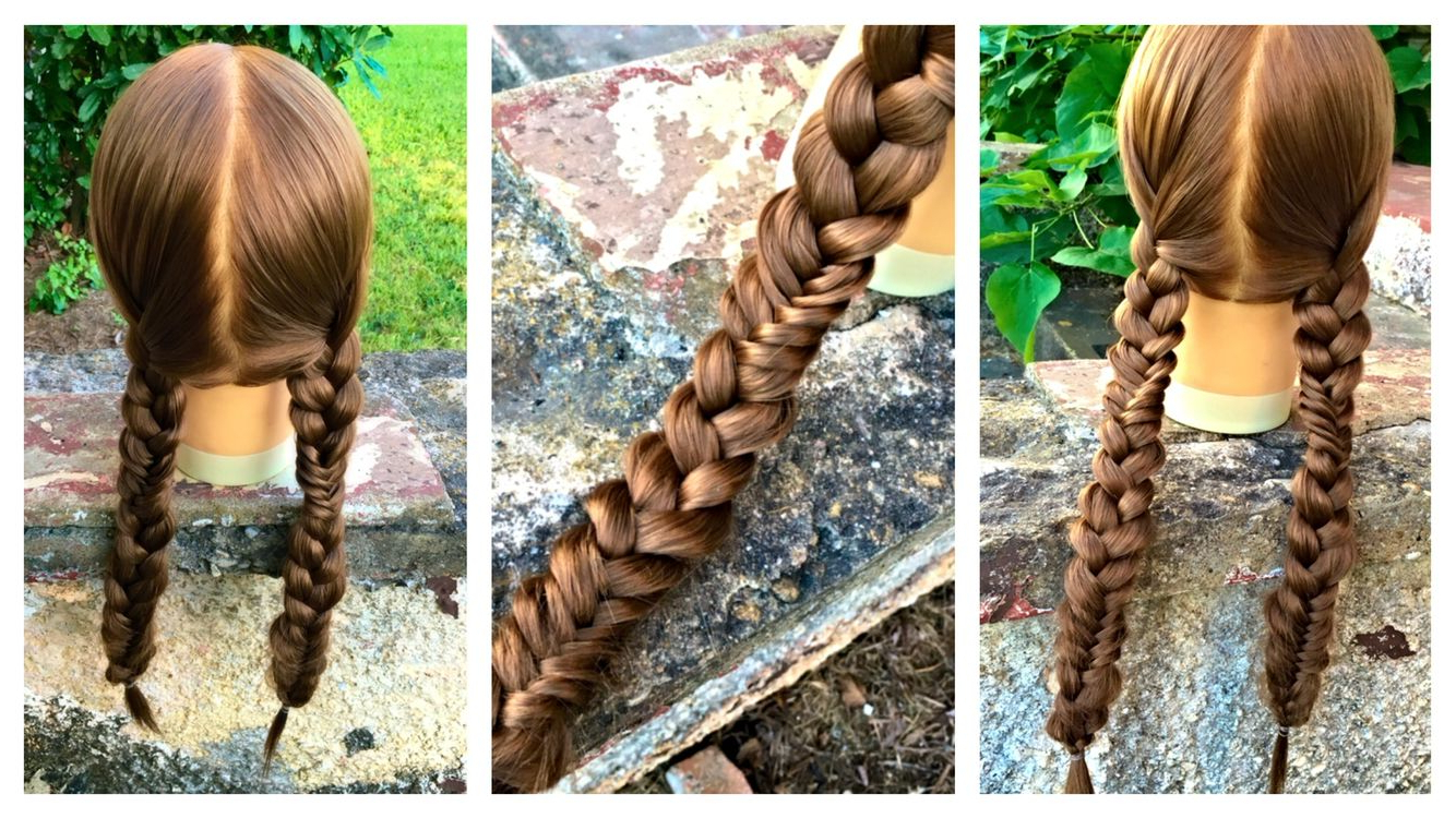 Popular Three Strand Pigtails Braid Hairstyles In Combo Braid – Alternating Fishtail And Three Strand Braid (View 4 of 20)