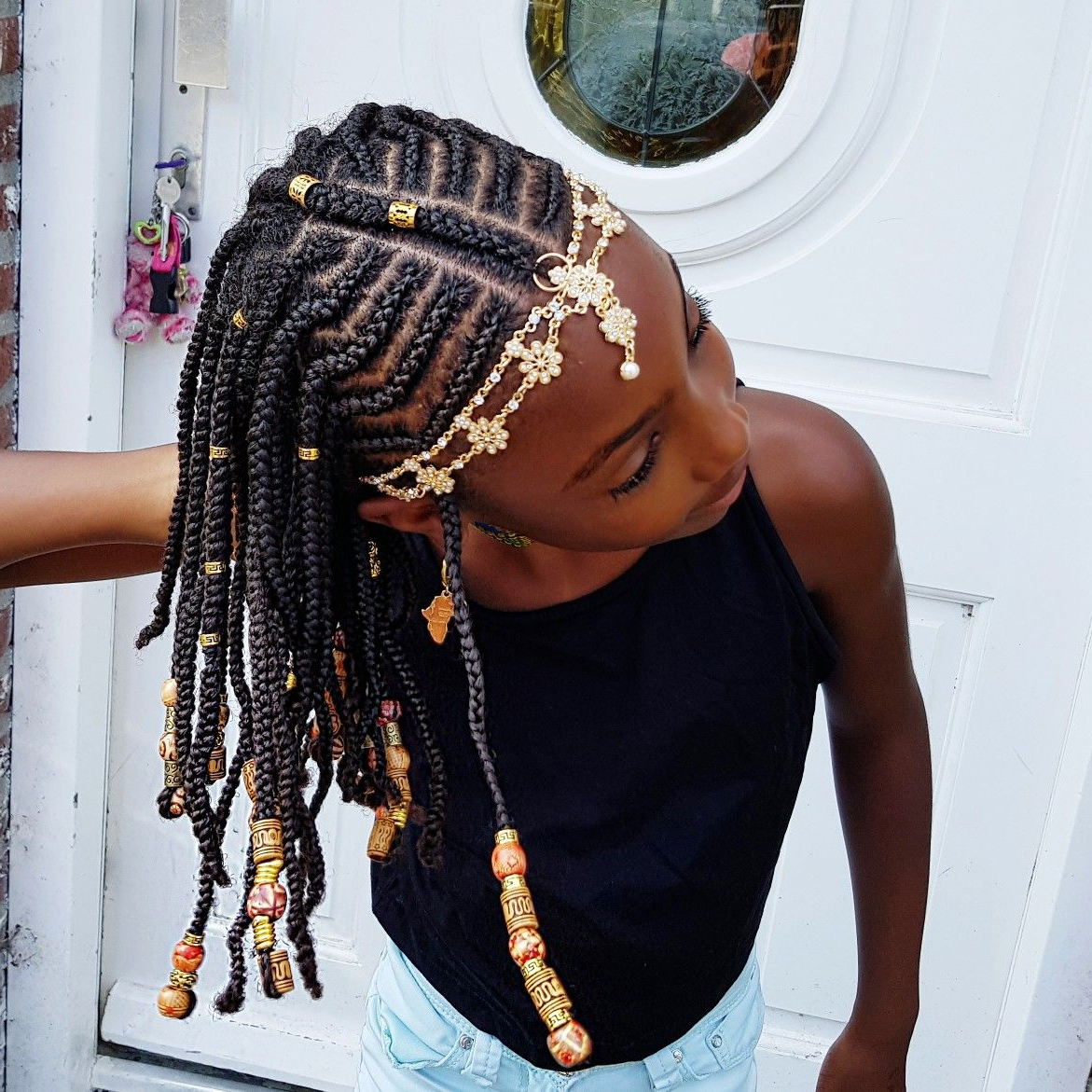 Preferred Beaded Braids Hairstyles Pertaining To Braids And Beads Natural Hairstyles For Girls (View 16 of 20)