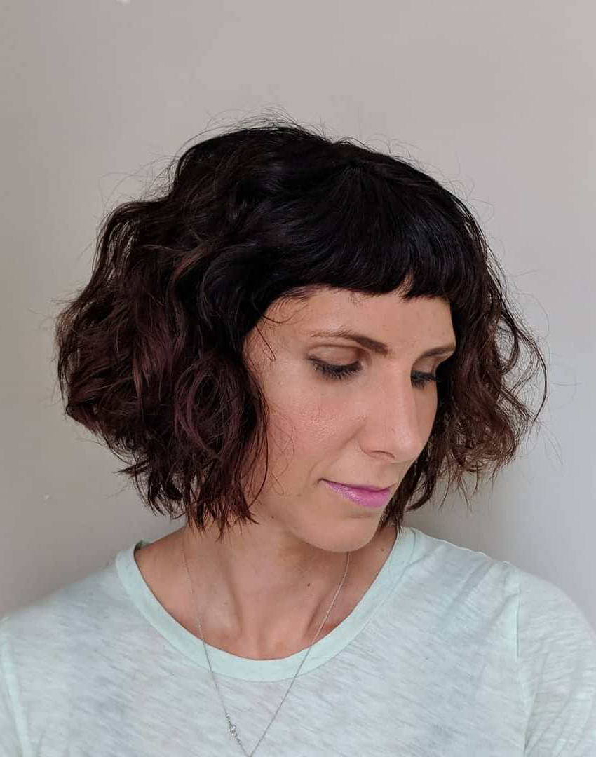 Preferred Curly Bob Hairstyles Within 30+ Trendy Curly Bob Hairstyles For Short Curly Hair Lovers! (View 16 of 20)