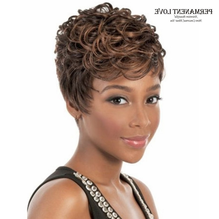 Preferred Dark Pixie Haircuts With Blonde Highlights Regarding Fluffy Black Women Wigs Short Pixie Brown Blonde Highlights (View 15 of 20)