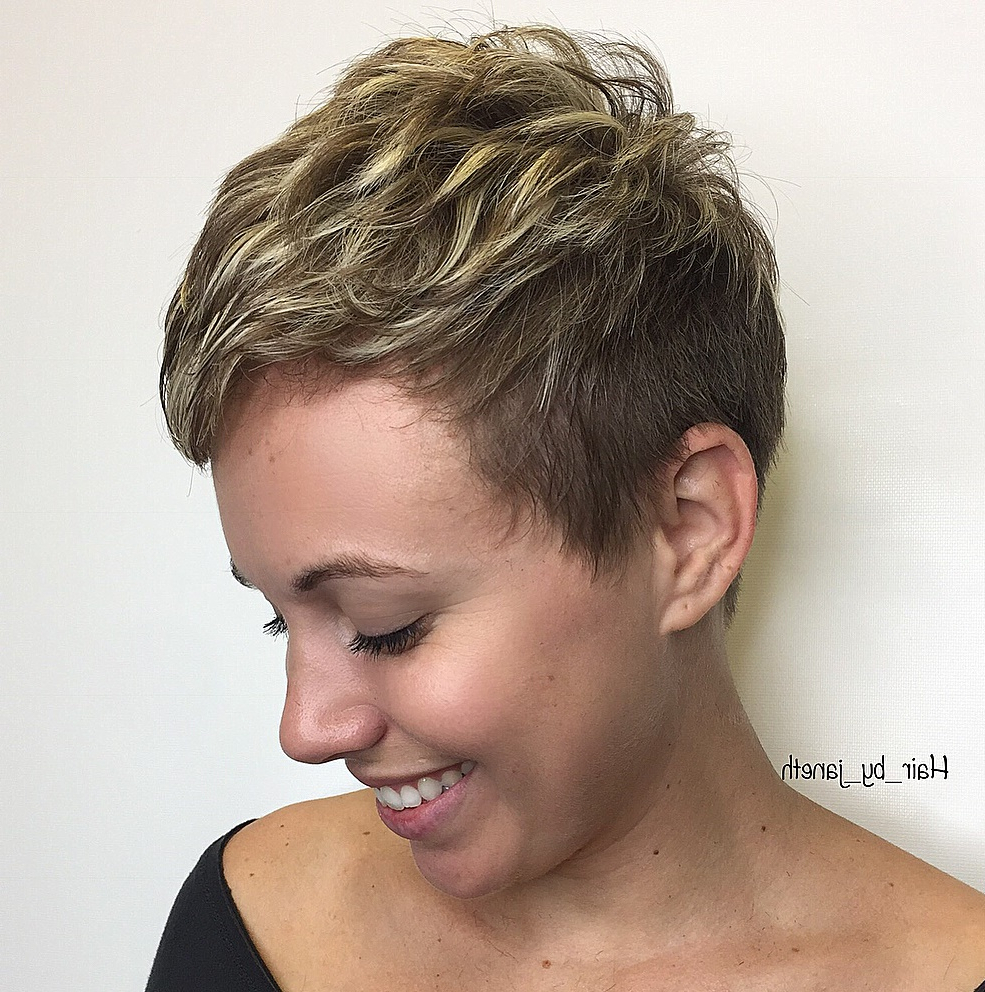 Preferred Dark Pixie Haircuts With Blonde Highlights Within 50 Hottest Pixie Cut Hairstyles In (View 11 of 20)