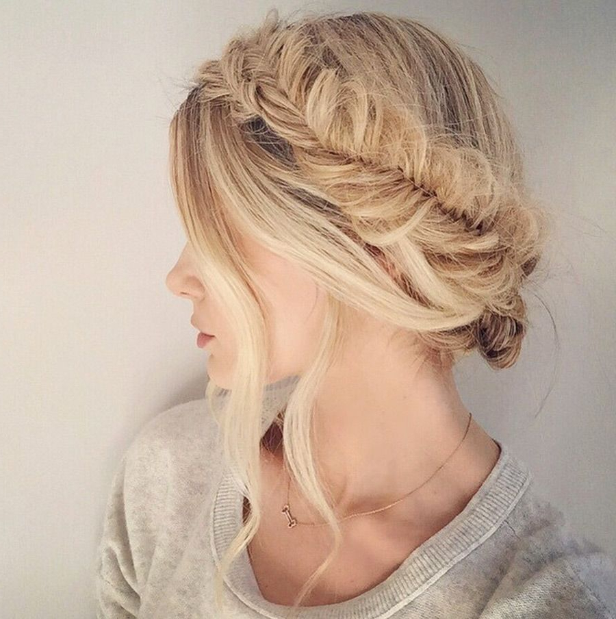 Preferred Fishtail Crown Braid Hairstyles Inside Fishtail Crown Braid (View 16 of 20)