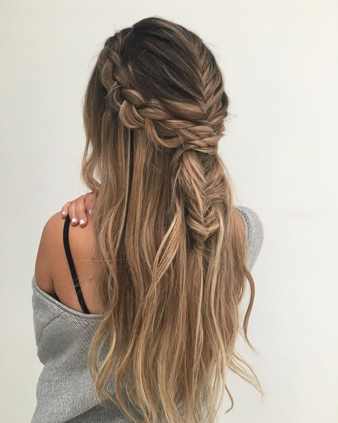 Preferred Fishtail Crown Braid Hairstyles Pertaining To 39 Trendy + Messy & Chic Braided Hairstyles (View 17 of 20)
