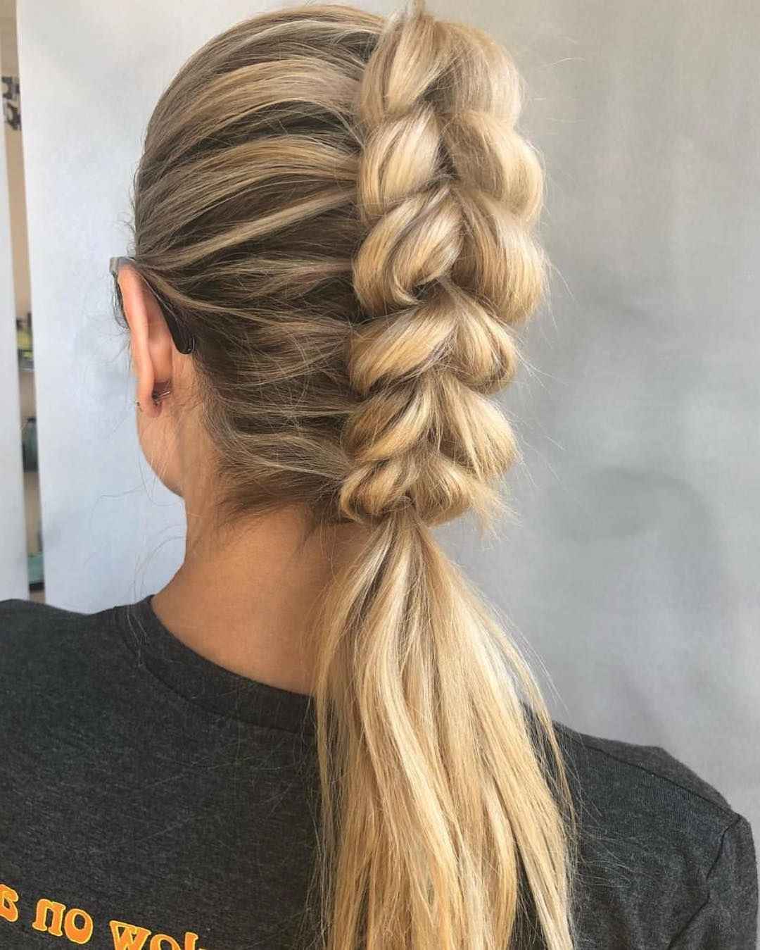 Preferred Grecian Inspired Ponytail Braid Hairstyles With Always A Fav ✨ Look Created@nicoledelawarestylist (View 15 of 20)