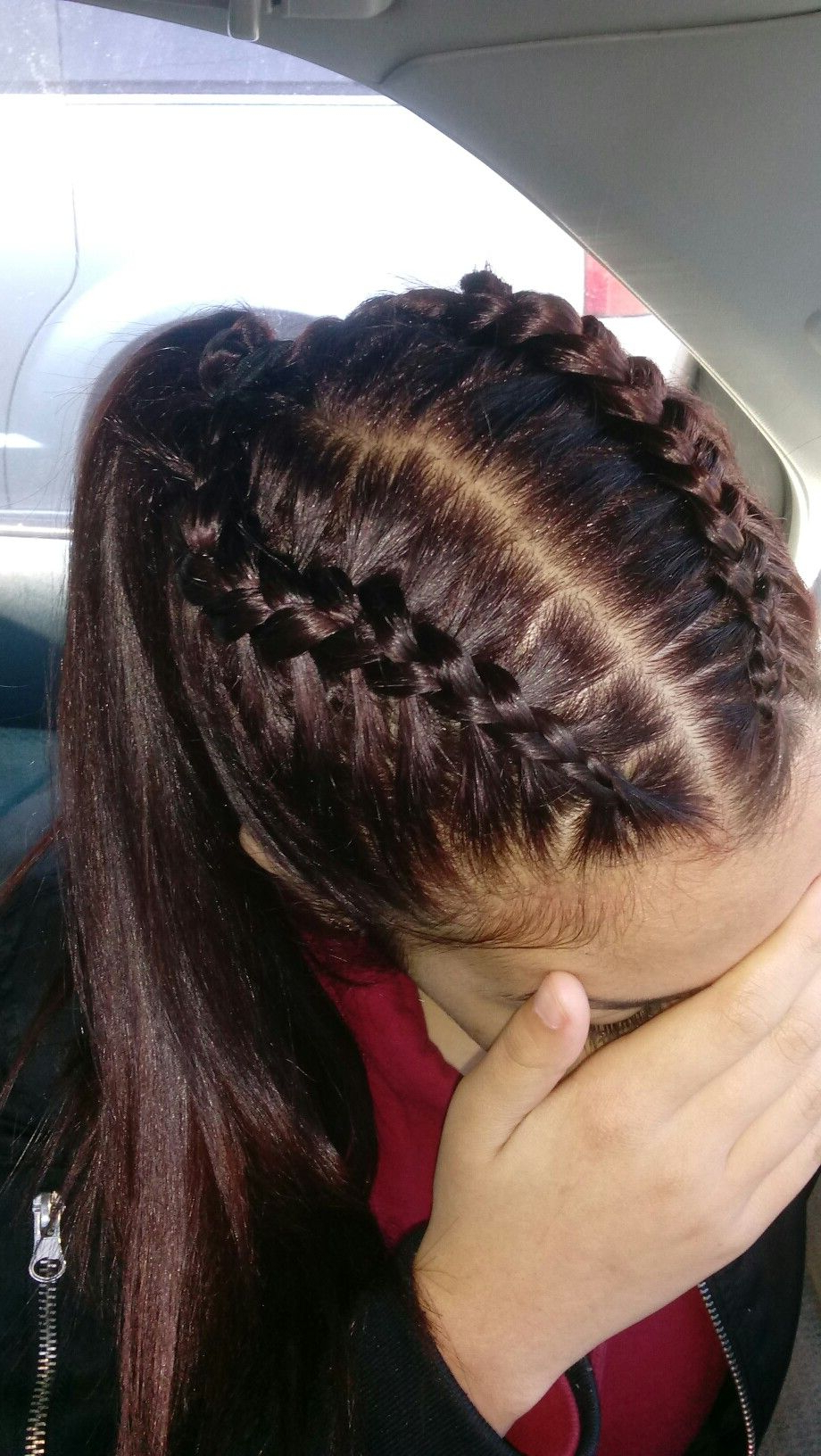 Preferred High Ponytail Braid Hairstyles Within Braided Hairstyles Ponytail Videos Ponytail Infinity Braid (View 10 of 20)