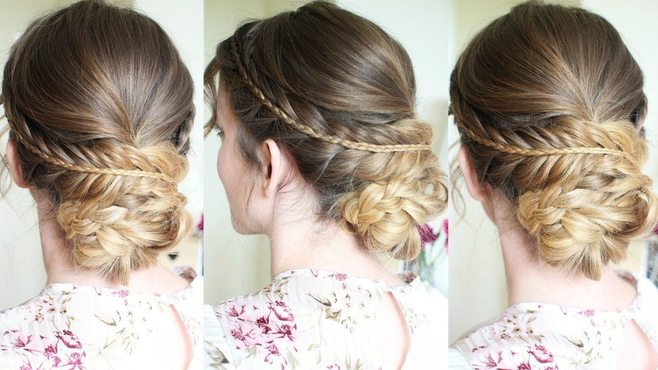Preferred Plaited Chignon Braid Hairstyles Inside Soft Braided Updo (Gallery 4 of 20)