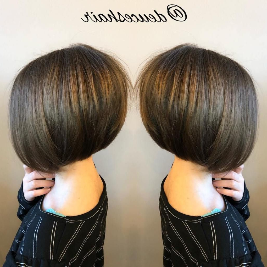 Preferred Rounded Sleek Bob Hairstyles With Minimal Layers Pertaining To 50 Cute Haircuts For Girls To Put You On Center Stage (Gallery 5 of 20)