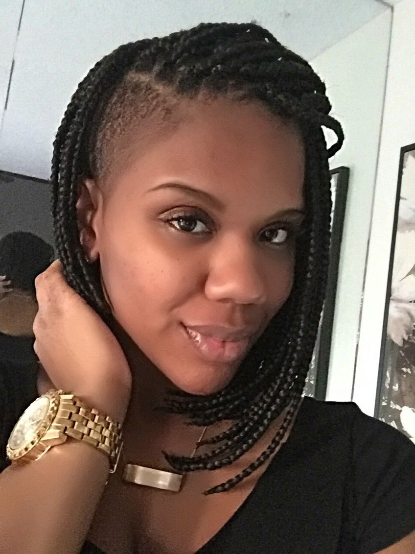 Preferred Side Shaved Cornrows Braids Hairstyles Inside Plaited Bob With Shaved Side!! (View 17 of 21)