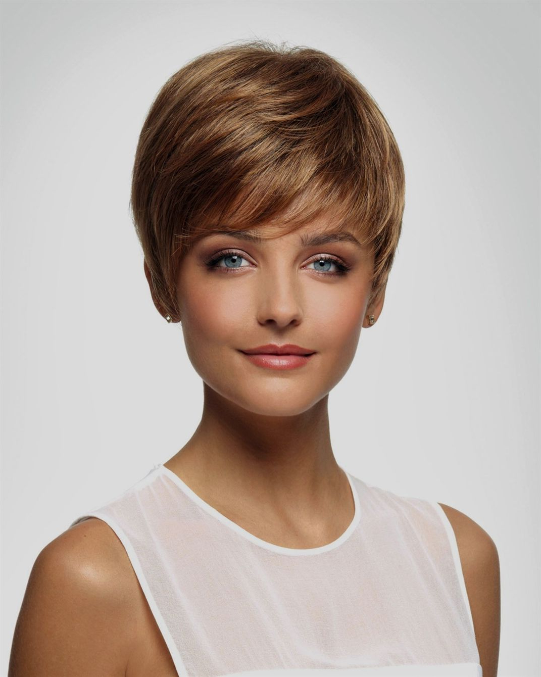 Preferred Silver Pixie Haircuts With Side Swept Bangs With Short Pixie With A Trendy Side Swept Fringe (View 16 of 20)