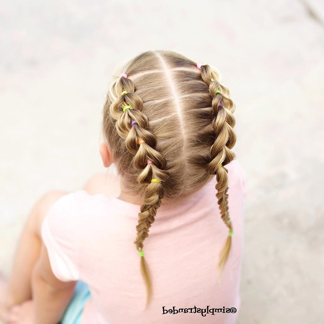 Pull Though Braids Into A Regular 3 Strand Braided Pigtails With Most Recent Three Strand Pigtails Braid Hairstyles (View 16 of 20)