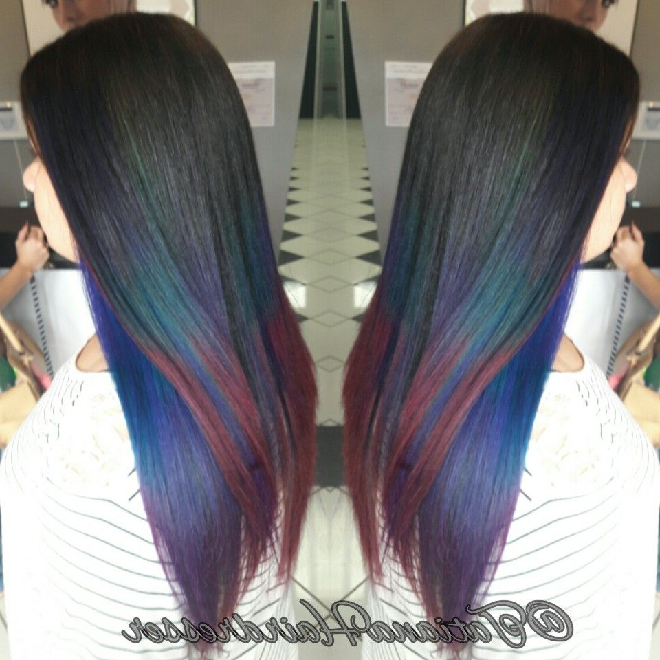 Rainbow Balayage Pravana Vivids Purple Red Pink Green Aqua Intended For Well Liked Aqua Green Undercut Hairstyles (View 10 of 20)