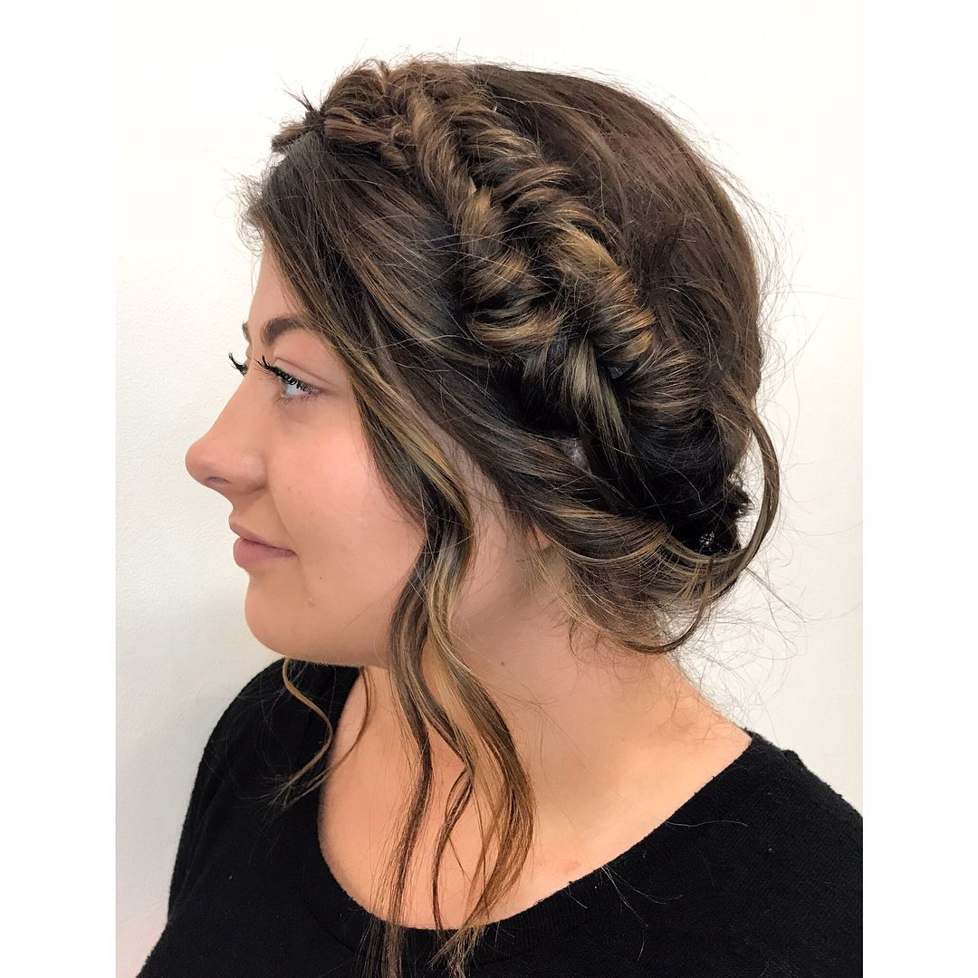 Recent Fishtail Crown Braid Hairstyles Intended For Milkmaid Fishtail Crown Braidsaveda Artist Courtney (View 18 of 20)