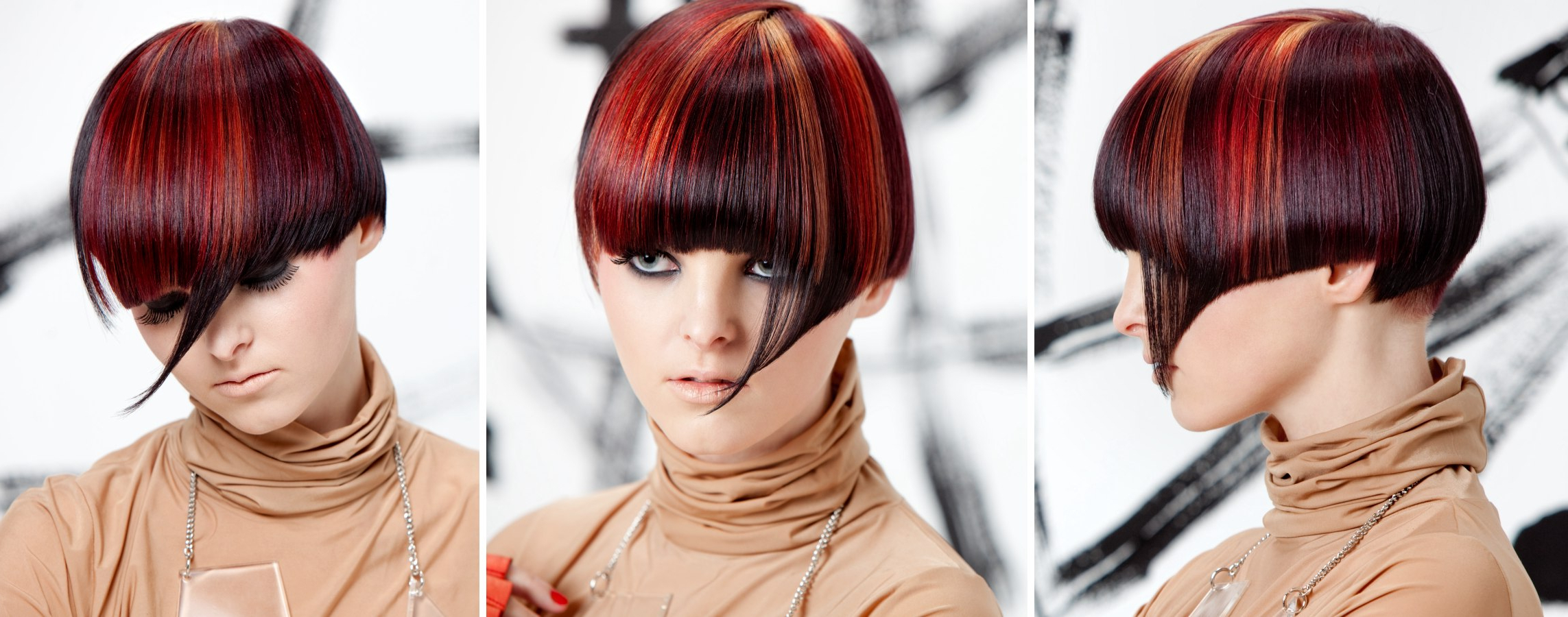 Recent Pageboy Maroon Red Pixie Haircuts For Cuts With Targeted Use Of Hair Color Effects (View 16 of 20)