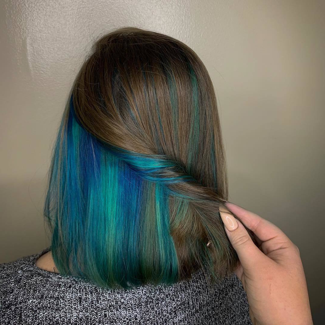 Recent Peek A Boo Braid Hairstyles For 20 Pretty Peekaboo Highlights You Need To See Now (View 15 of 20)