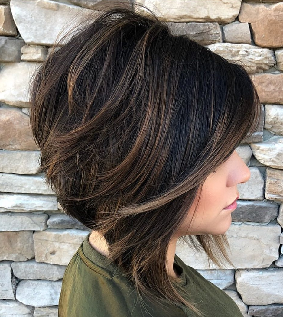 Recent Textured And Layered Graduated Bob Hairstyles Within 40 Awesome Ideas For Layered Bob Hairstyles You Can't Miss (View 18 of 20)