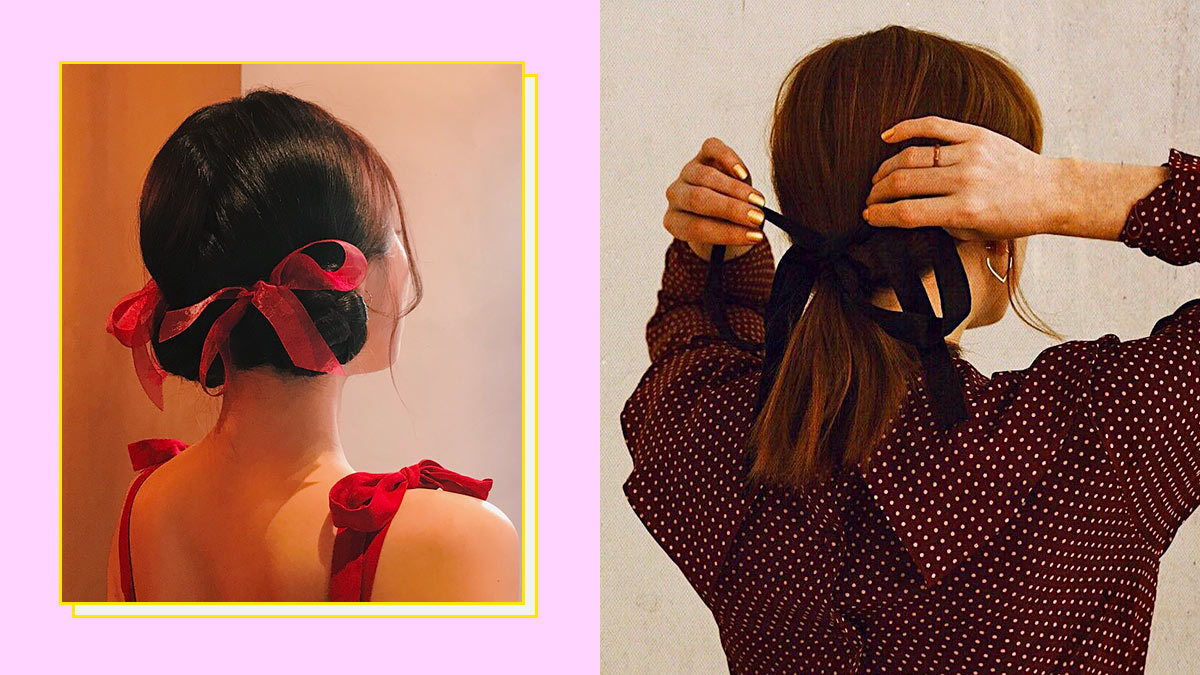 Ribbon Hairstyles Intended For Current Loosely Tied Braid Hairstyles With A Ribbon (View 6 of 20)