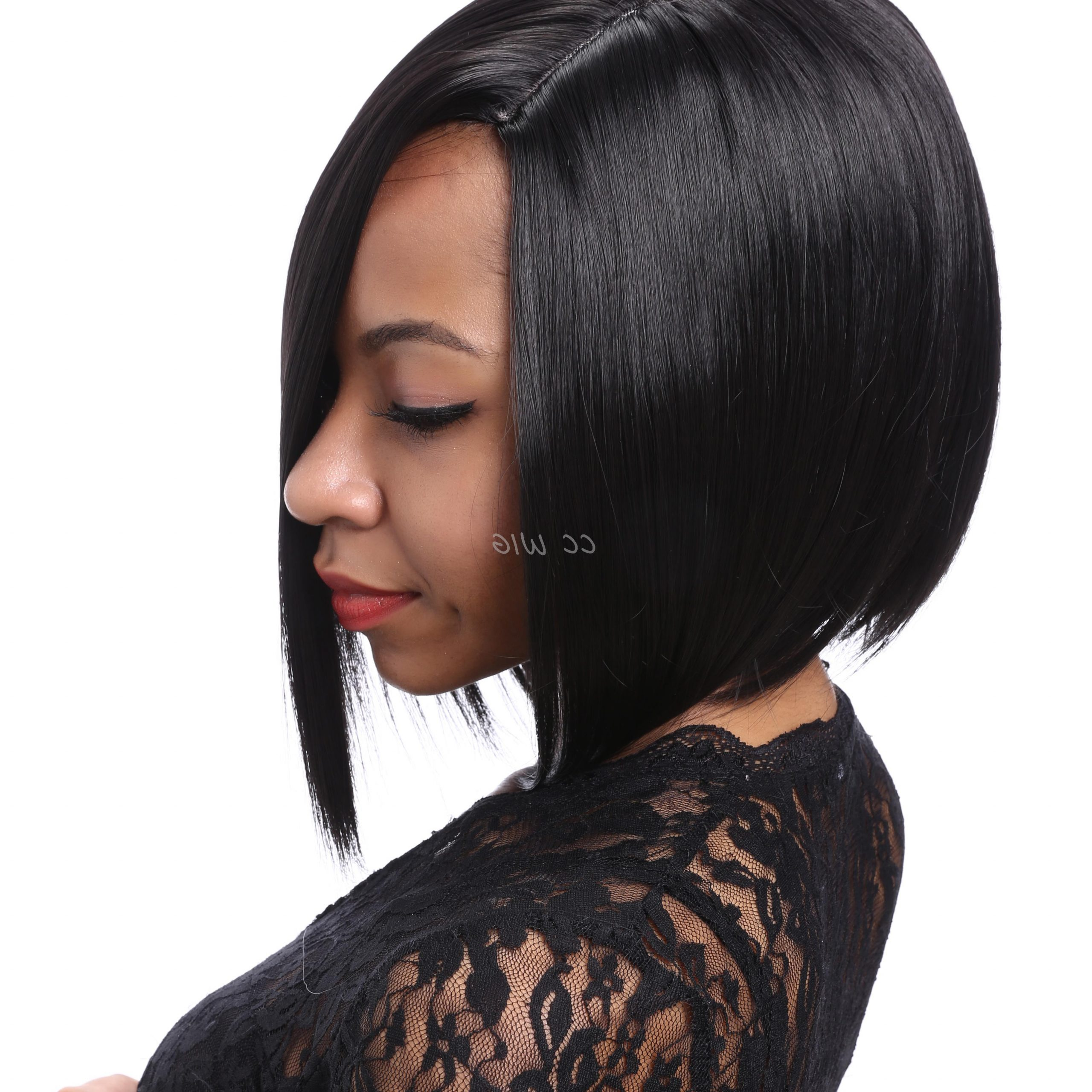 Short Black Bob Hairstyles Wig High Quality Wigs For Black Within Popular Natural Bob Hairstyles (View 15 of 20)