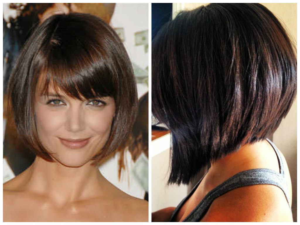 Short Inverted Bob Hairstyles Bangs Bobs Light (View 10 of 21)