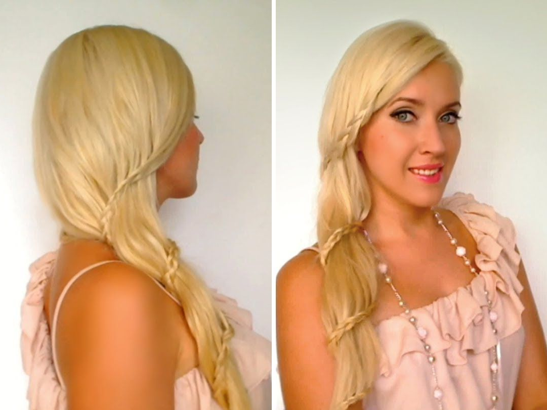 Featured Photo of Side Swept Carousel Braid Hairstyles