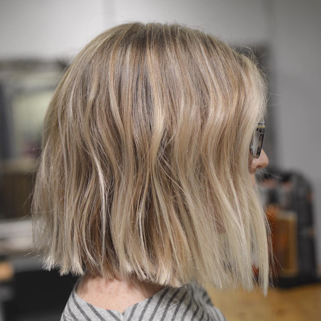 Simple Blunt Bob Hairstyles, Cool Short Haircut For Female With Well Liked Blunt Bob Hairstyles (View 18 of 20)
