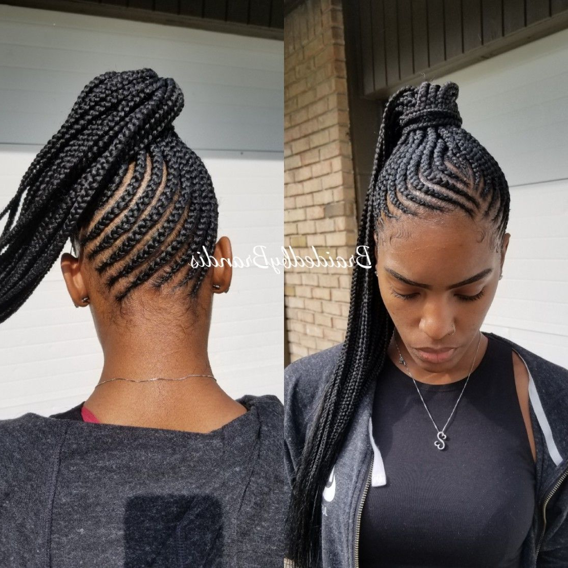 Small Feed In Braids, Braided (View 2 of 20)