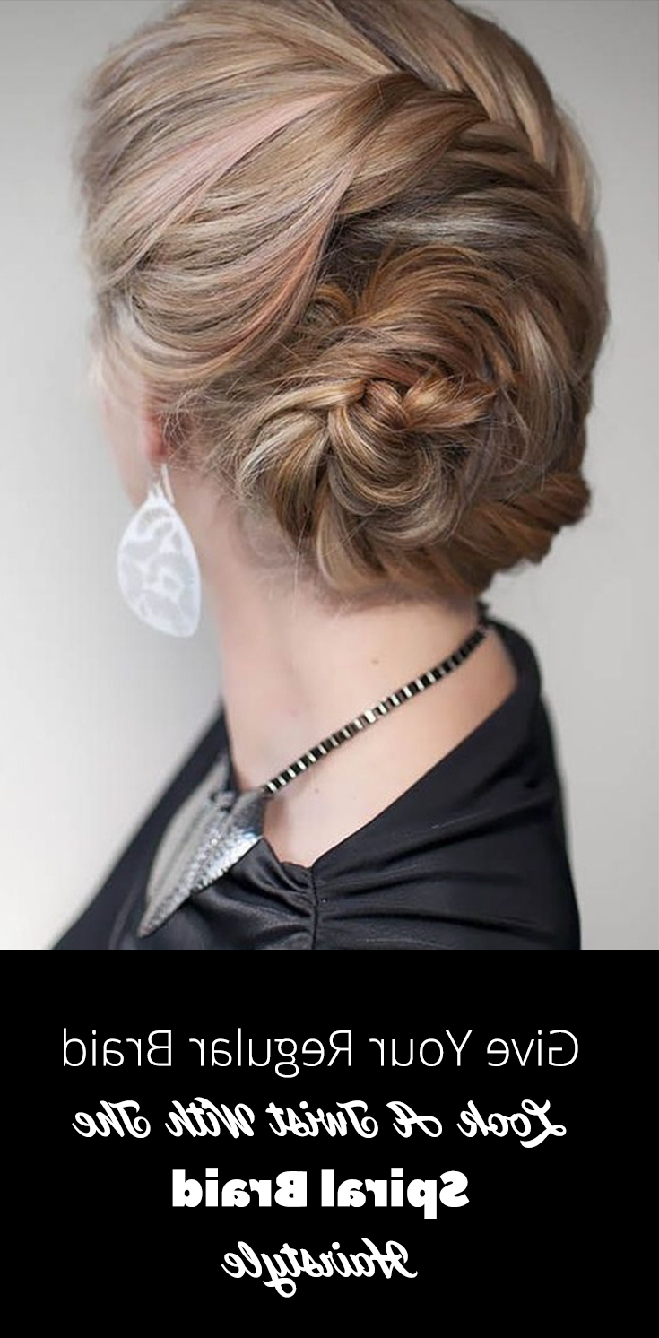 Stepstep Guide To Make Spiral Braid With Video Tutorial Regarding Trendy Loose Spiral Braid Hairstyles (View 19 of 20)