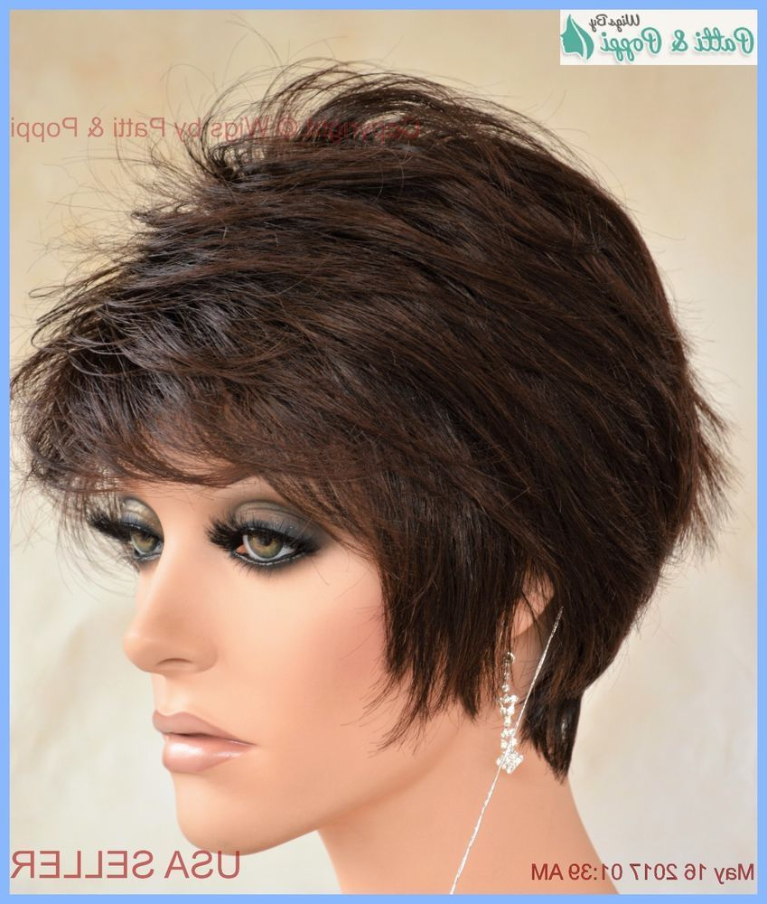 Synthetic Short Hair Wig For Women Color Cappuccino Cute Inside Most Current Short Cappuccino Bob Hairstyles (View 16 of 20)