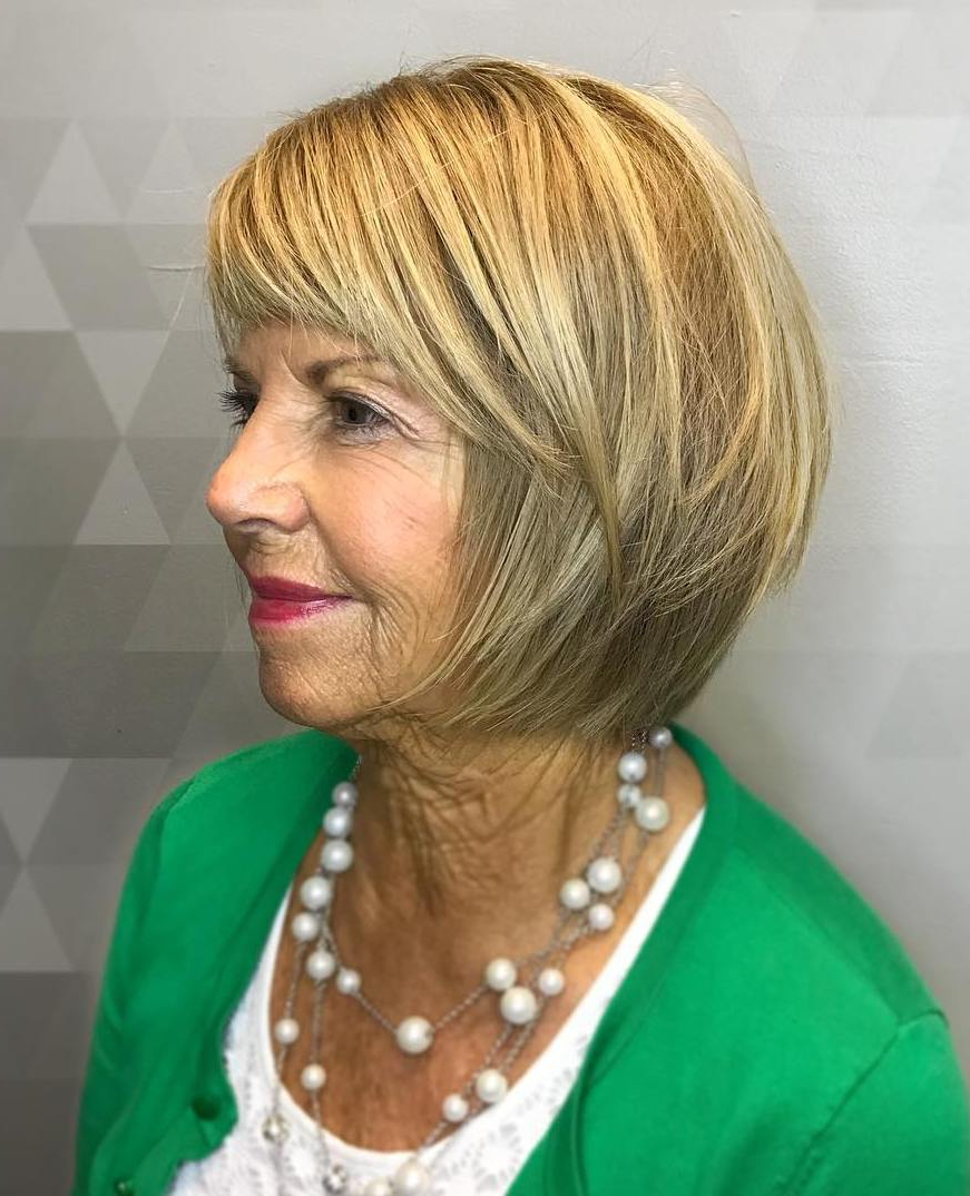 2020 Latest Cute Round Bob Hairstyles For Women Over 60