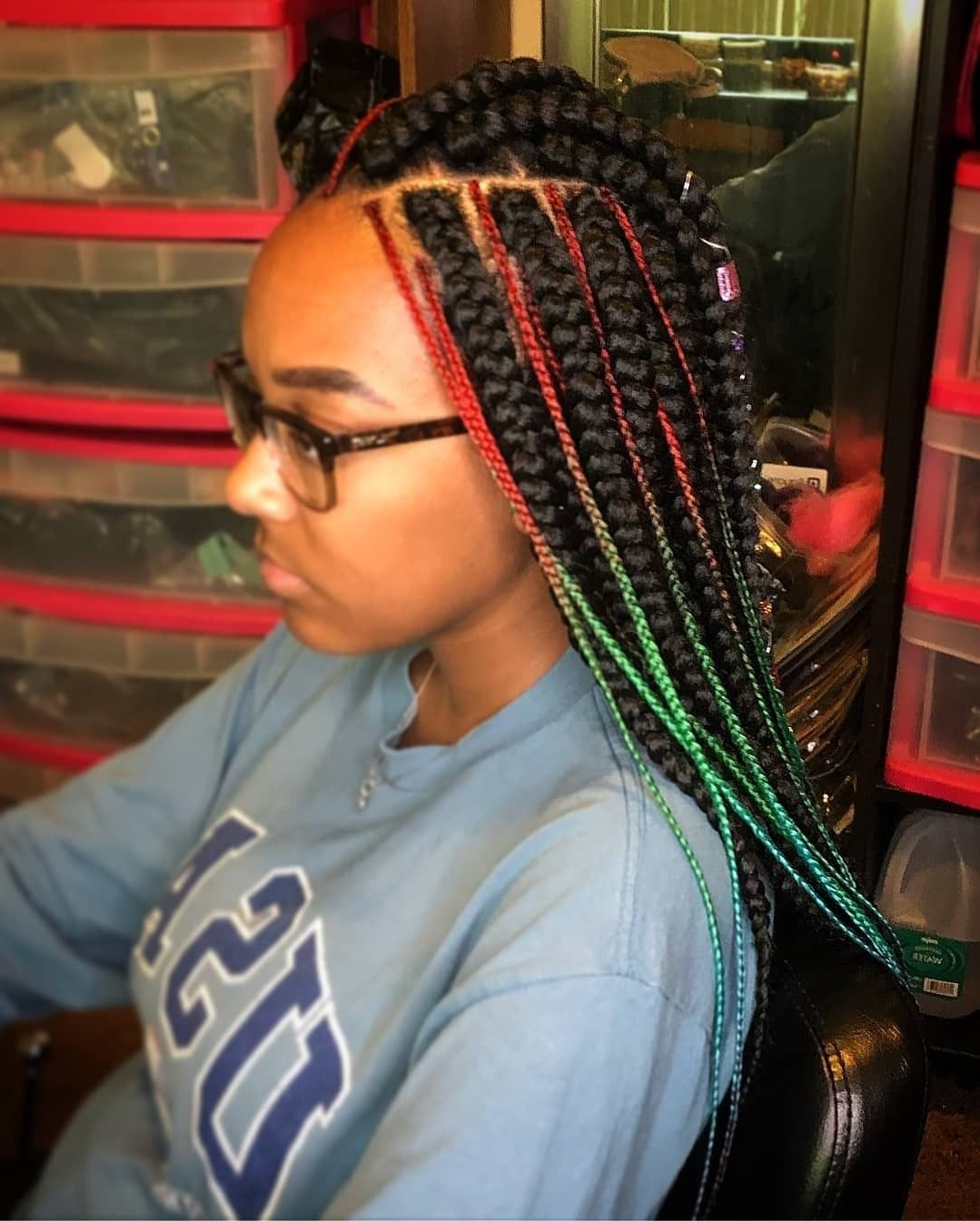 Thick N Thinerynn Townsend (Cincinnati) @eexclusive4U For Fashionable Thick Plaits And Narrow Cornrows Hairstyles (View 8 of 20)
