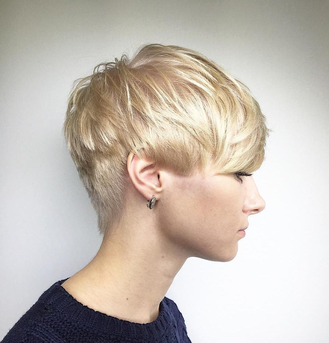 Thin Throughout Best And Newest Edgy Textured Pixie Haircuts With Rose Gold Color (View 17 of 20)