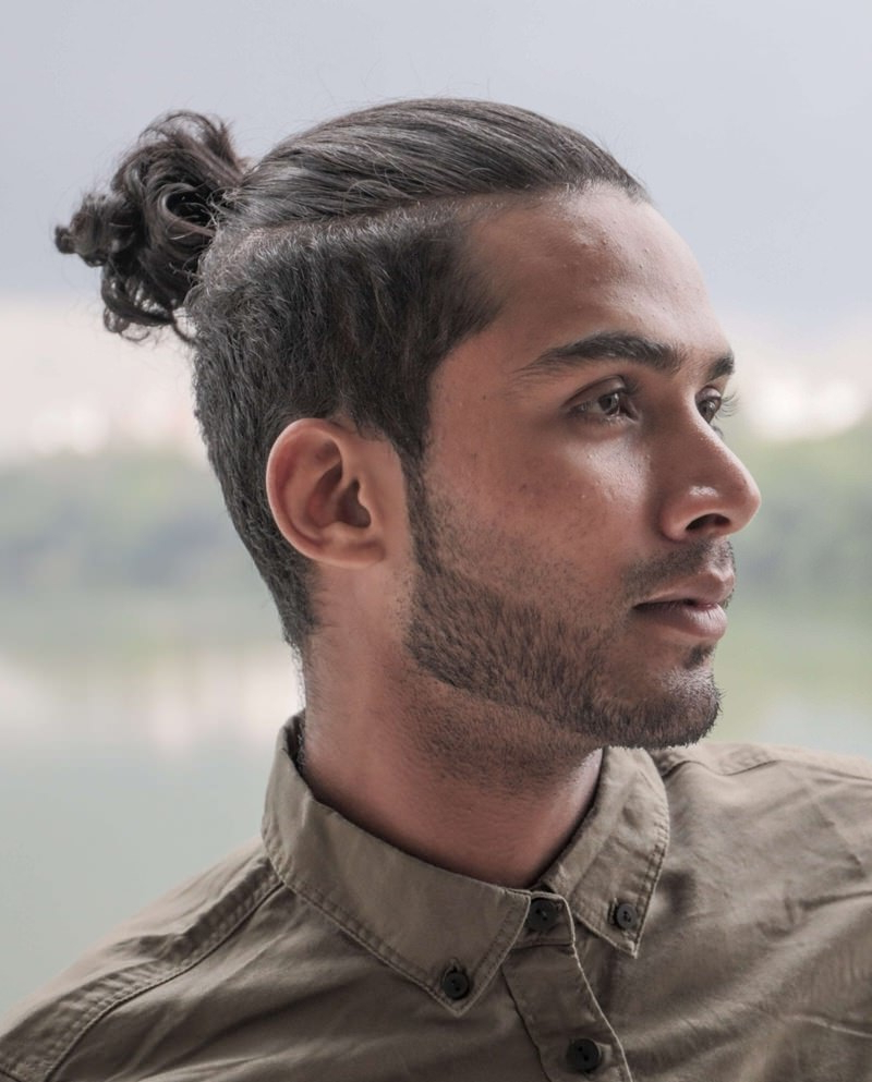 Top 75+ Man Bun Hairstyles For The Modern Day Guy Pertaining To Best And Newest Modern Braided Top Knot Hairstyles (View 16 of 20)