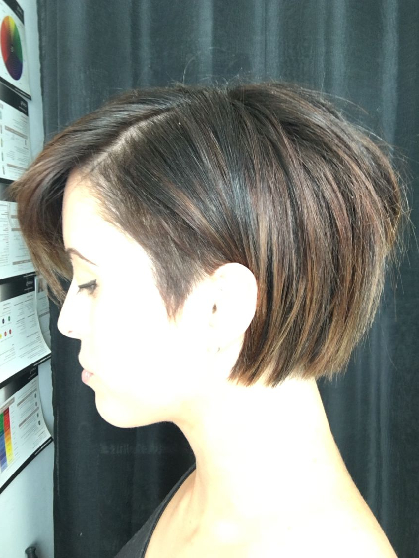 Trendy Blonde Undercut Bob Hairstyles For Pin On Hair <3 Makeup (View 2 of 20)