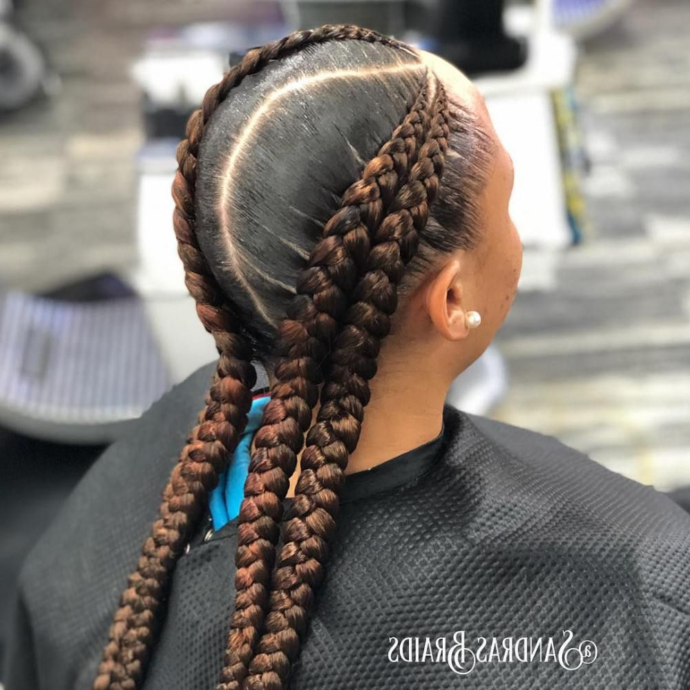 Trendy Curved Goddess Braids Hairstyles Within 60 Inspiring Examples Of Goddess Braids (View 18 of 20)