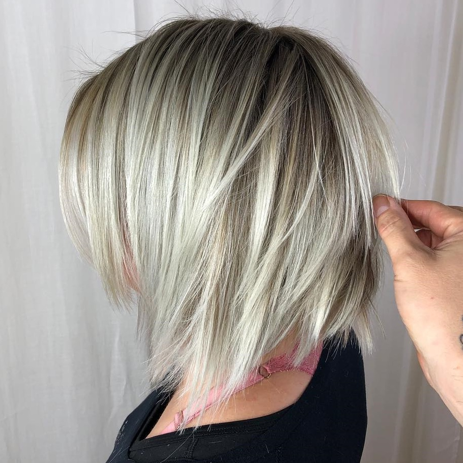 Trendy Graduated Angled Bob Hairstyles Regarding 20 Bob Haircuts For Fine Hair To Try In (View 18 of 20)