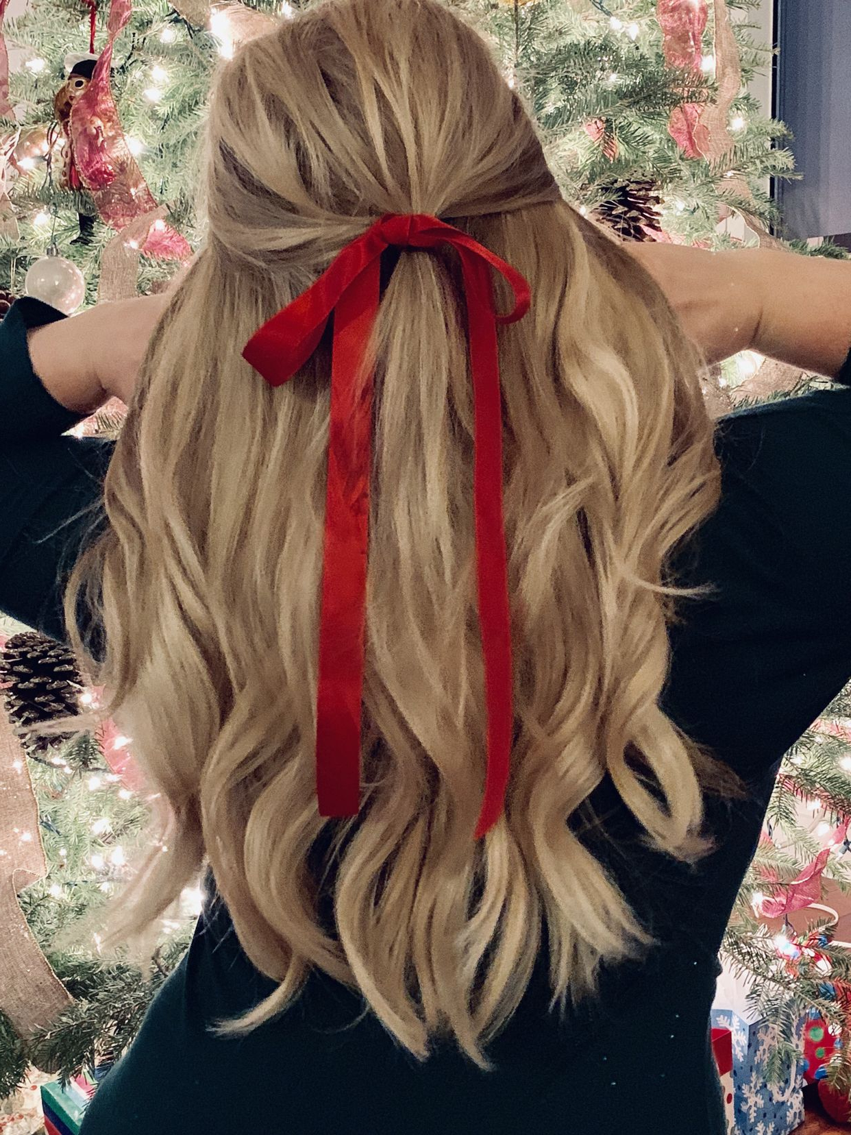 Trendy Loosely Tied Braid Hairstyles With A Ribbon With Regard To Red Ribbons Are The Perfect Way To Create A Festive Holiday (View 4 of 20)