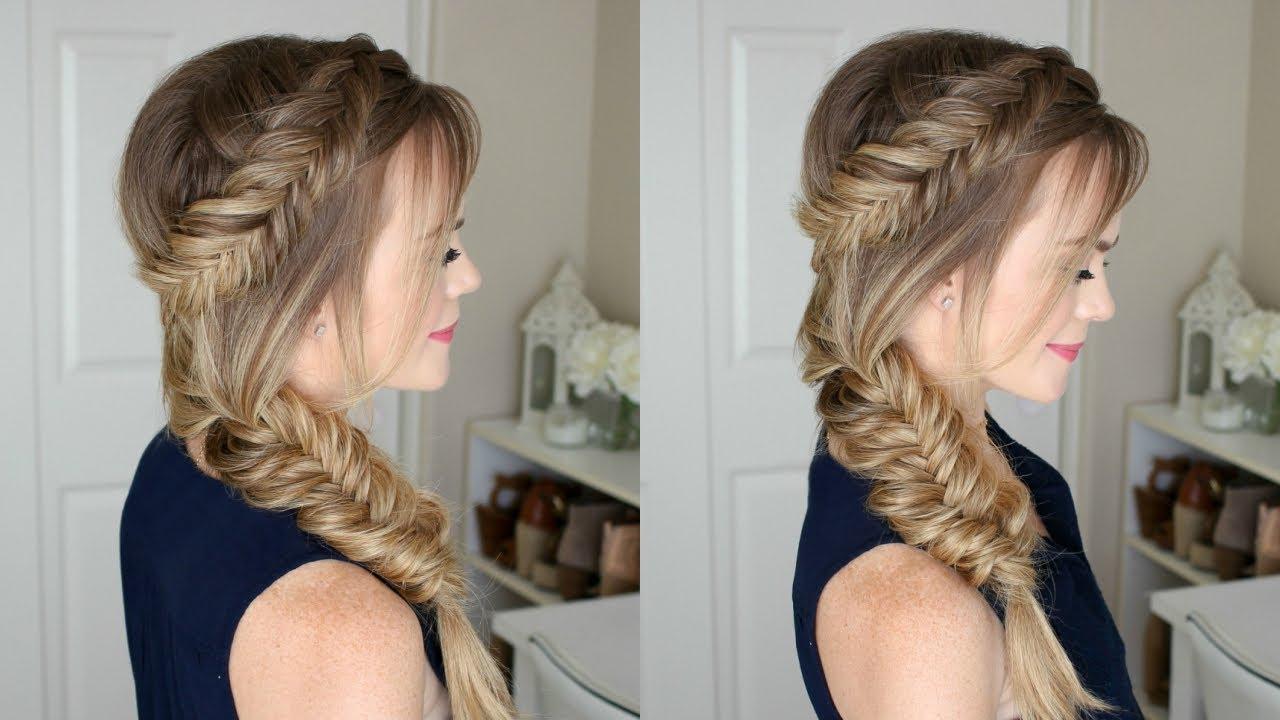 Trendy Messy Side Fishtail Braid Hairstyles Regarding Dutch Fishtail Side Braid (View 16 of 20)