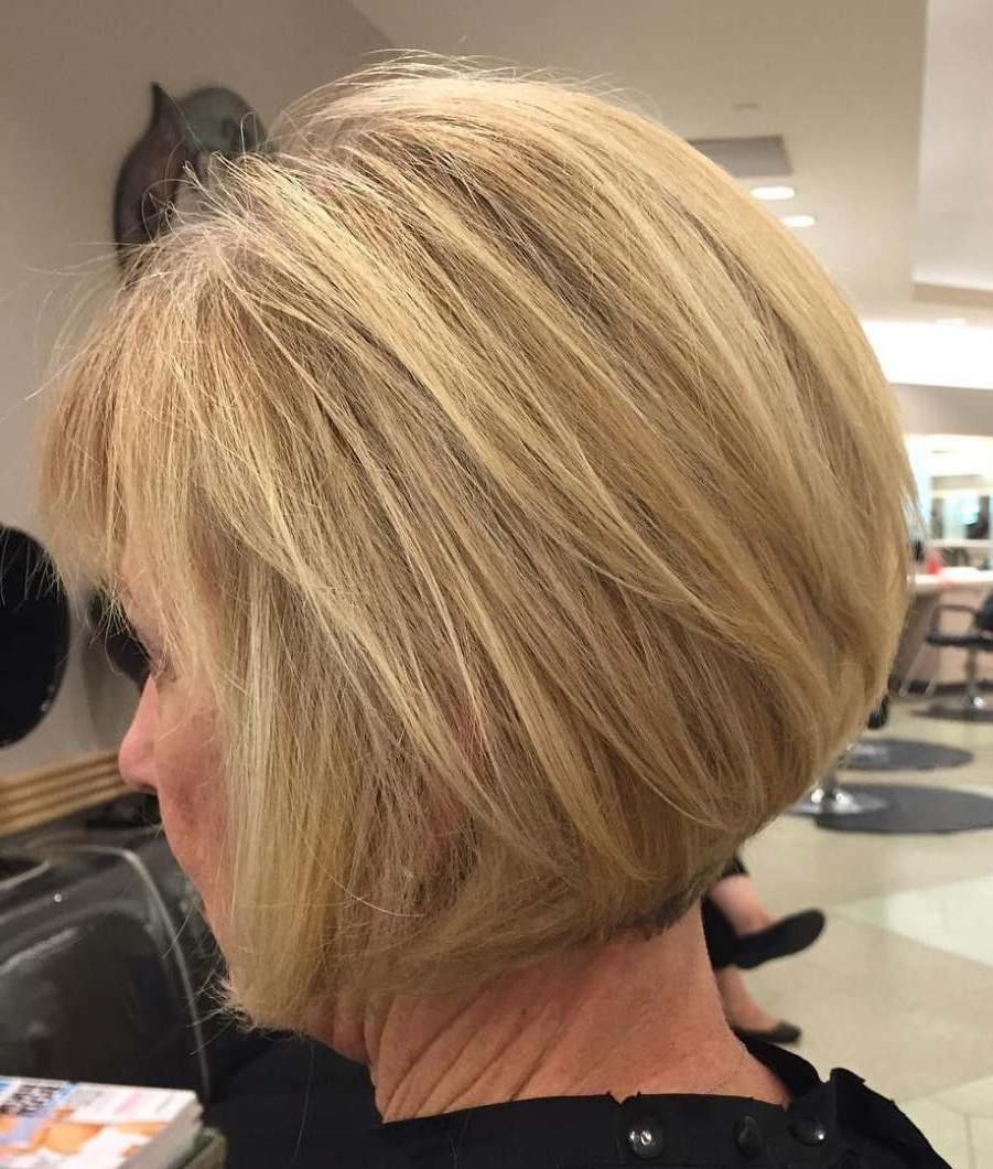 Trendy Sassy Angled Blonde Bob Hairstyles In (View 16 of 20)