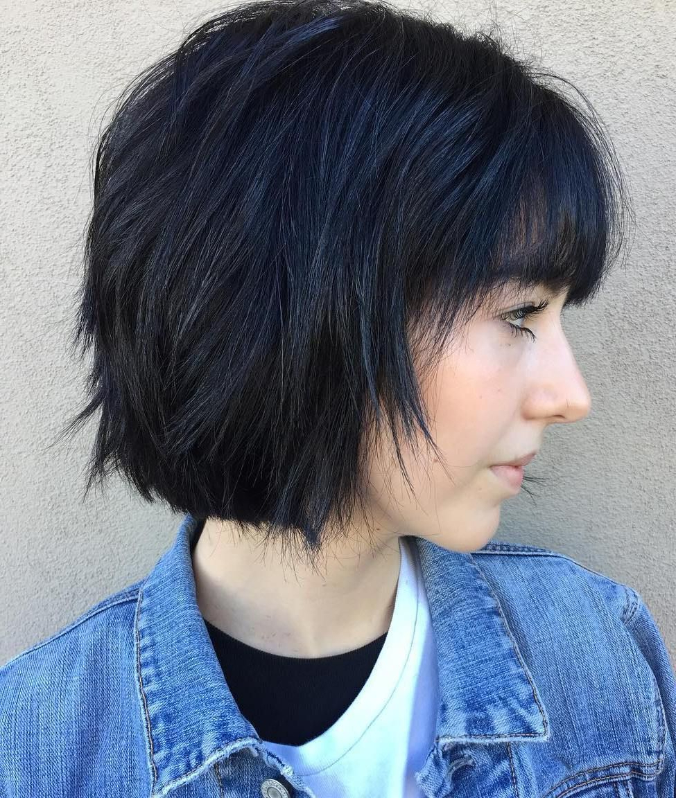 Trendy Short Black Bob Hairstyles With Bangs Regarding Pin On Beauty Is Only Skin Deep (View 12 of 20)