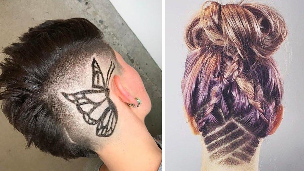 Undercut Hair Tattoo Women – Short Nape Shave Under Cut Inside Most Popular Shaved Undercuts (View 20 of 20)