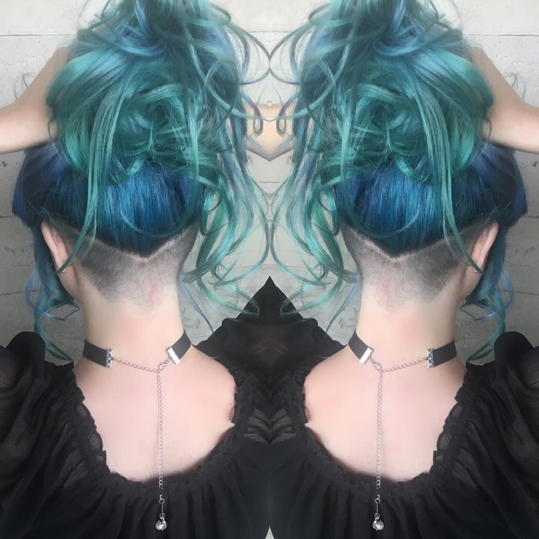 Undercut On Point Literally When You Want That Extra Intended For Trendy Aqua Green Undercut Hairstyles (View 9 of 20)