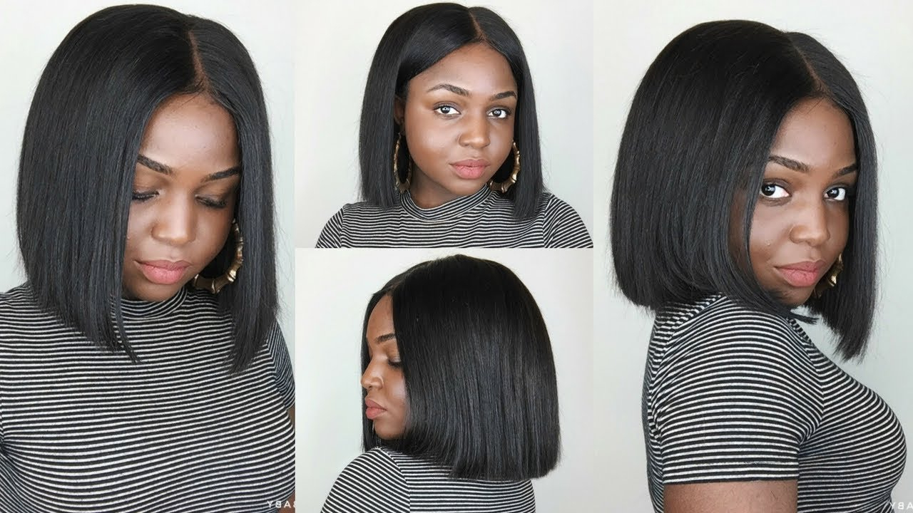 Vanlov Straight Hair With Frontal Cut Pertaining To Favorite Sleek Blunt Bob Hairstyles (Gallery 10 of 20)
