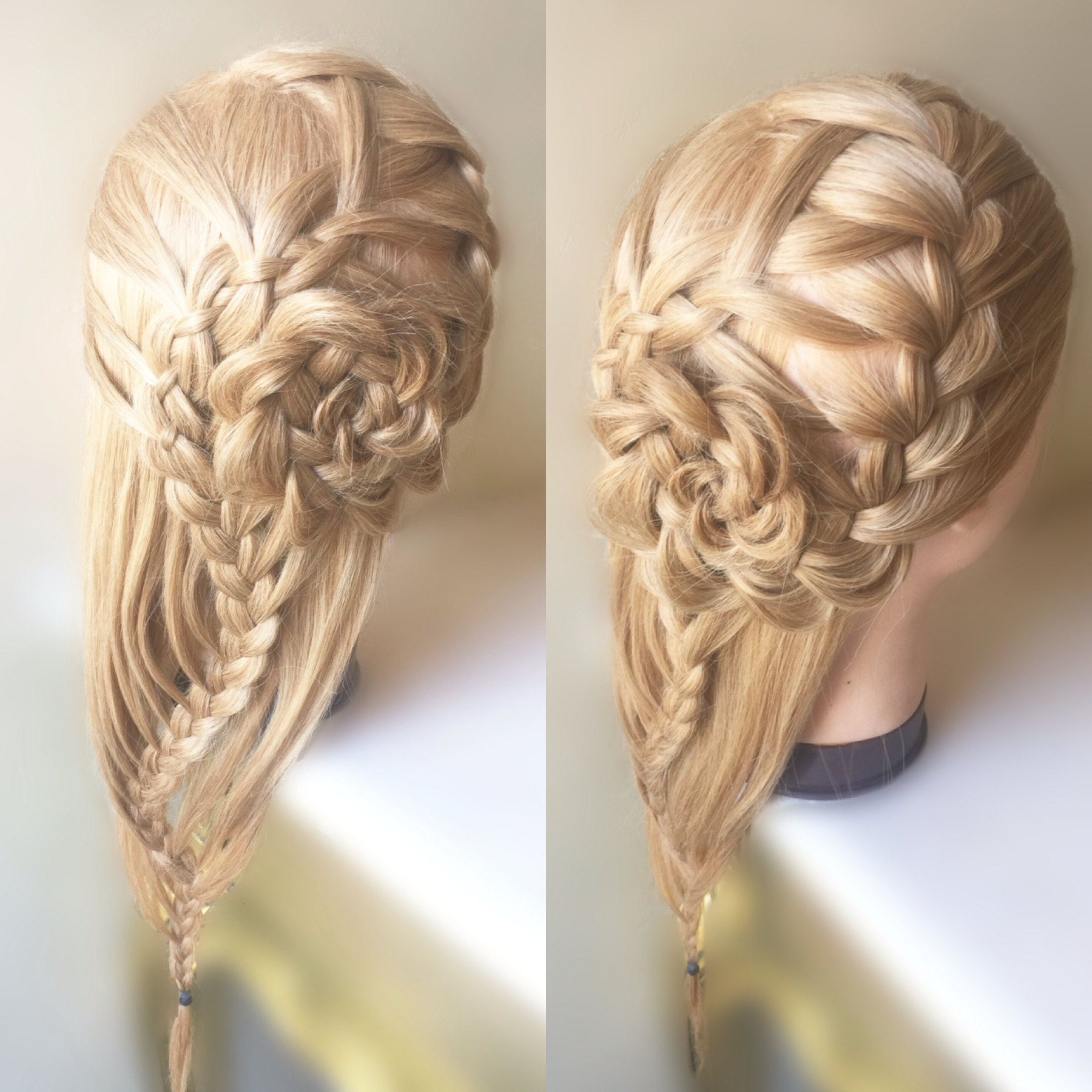 Waterfall Braid Into Four/three Strand Snake Braid With A Pertaining To Favorite Three Strand Pigtails Braid Hairstyles (View 9 of 20)