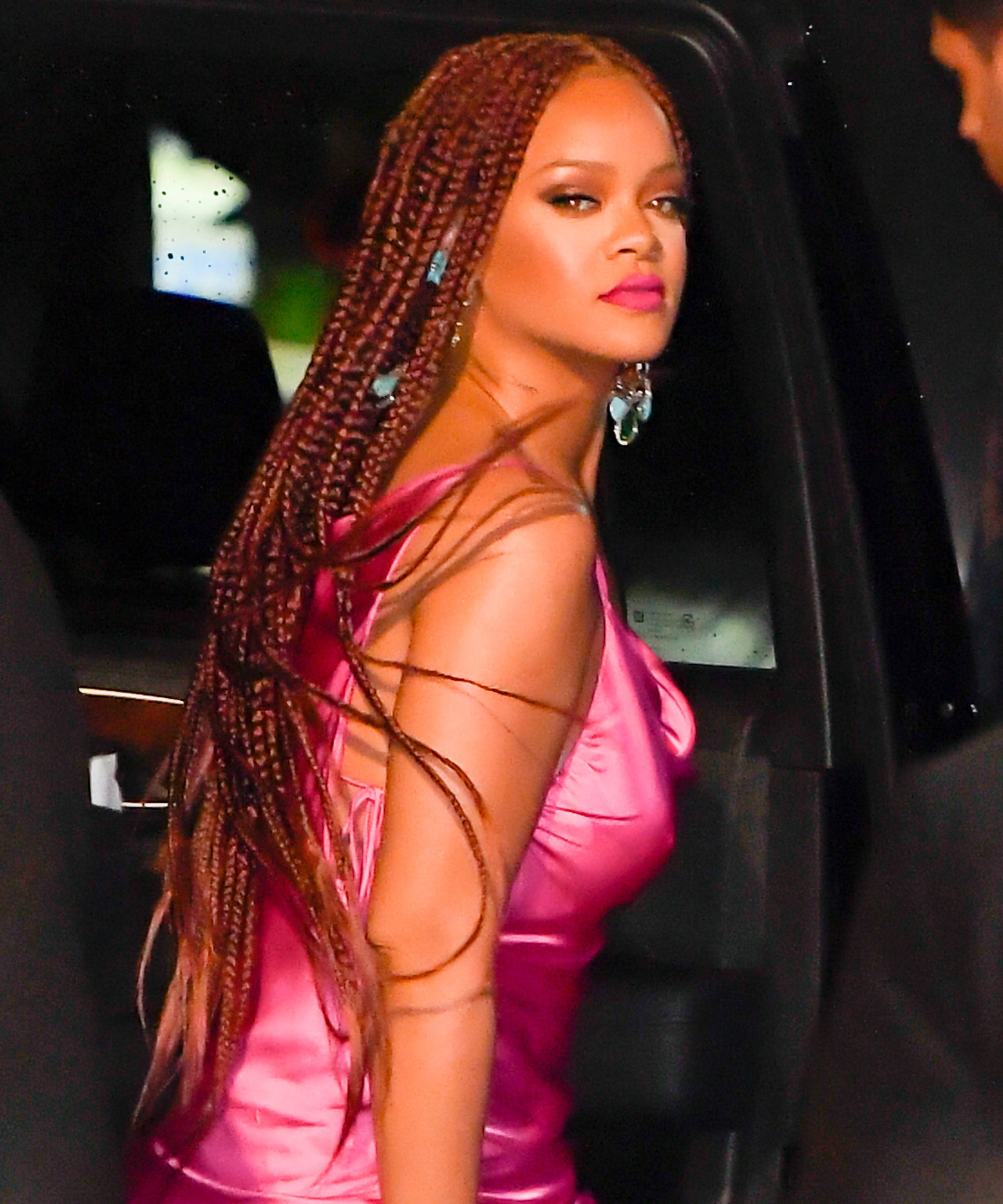 Well Known Billowing Ponytail Braid Hairstyles Within Rihanna Red Box Braids Are Perfect For Summer (View 19 of 20)