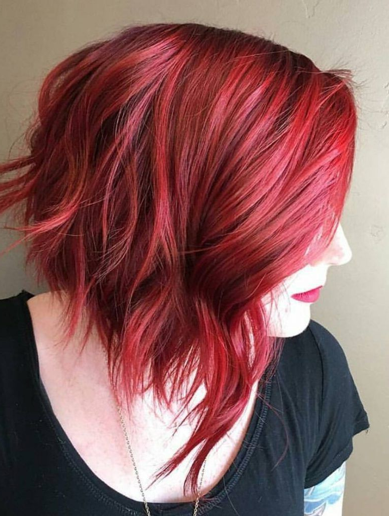 Well Known Bright Red Bob Hairstyles Inside 15 Ways To Add Bright Color To Your A Line Bob Haircut (View 3 of 20)