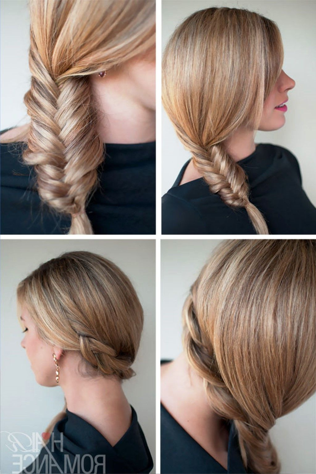 Well Known Fishtail Side Braid Hairstyles With Pictures Of Simple Casual Fishtail Side Braid In  (View 16 of 20)